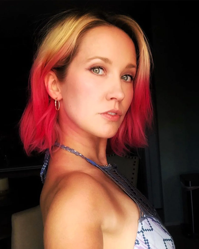**Anna Camp**<br></br> *Pitch Perfect* star Camp went the opposite way to the root touch-ups most celebs have embraced, opting instead for dip-dyed ends.