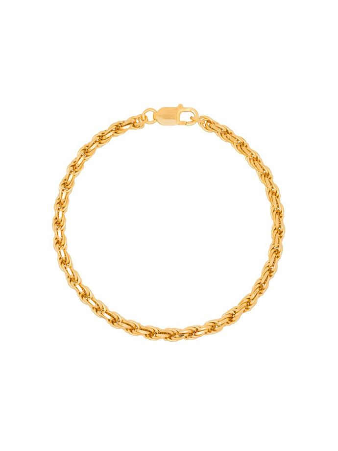 "'Gold-Plated Achilles Chain Anklet' by Hermina Athens, $278 at [Farfetch](https://www.farfetch.com/au/shopping/women/hermina-athens-gold-plated-achilles-chain-anklet-item-15112803.aspx?size=17&storeid=9359&utm_source=google&utm_medium=cpc&utm_keywordid=113766631&utm_shoppingproductid=15112803-791101013283105122101&pid=google_search&af_channel=Search&c=1878416368&af_c_id=1878416368&af_siteid=&af_keywords=aud-360016540289:pla-724887371466&af_adset_id=71127298038&af_ad_id=349125157177&af_sub1=113766631&af_sub5=15112803-791101013283105122101&is_retargeting=true&shopping=yes&foundit=yes&gclid=CjwKCAjwwYP2BRBGEiwAkoBpAr-p9yhKX8mhgphyWBKTER1SDsL7oRz897DoWjHW1hYdC2-9bp2iaBoCZ-sQAvD_BwE|target=""_blank""