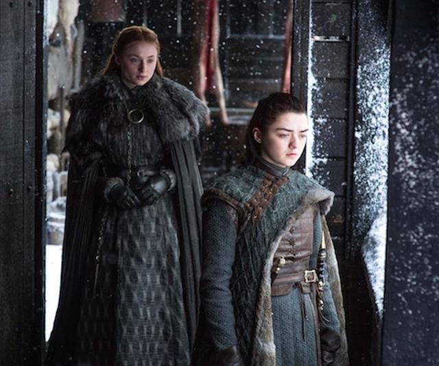 **Sansa and Arya Stark from *Game Of Thrones*** <br><br> Possibly the most well-known sister duo of the last decade, sisters Sansa and Arya became a strong symbol of family by the end of the iconic series. At the start of the series, Sansa preferred needlework and boys whereas Arya preferred swords and fighting said boys. The sisters were separated early on in the series, to reunite in the ultimate tear-jerker in final season. If we needed more proof that the siblings were closer than ever, the pair worked together to secretly manipulate an enemy and ultimately have him killed. *Iconic*.