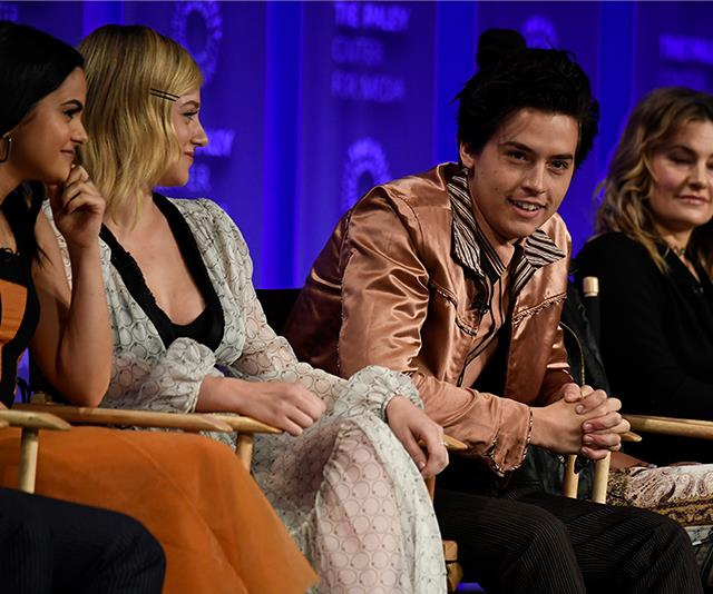 Lili Reinhart and Cole Sprouse at Paley Fest in 2018. *GETTY*