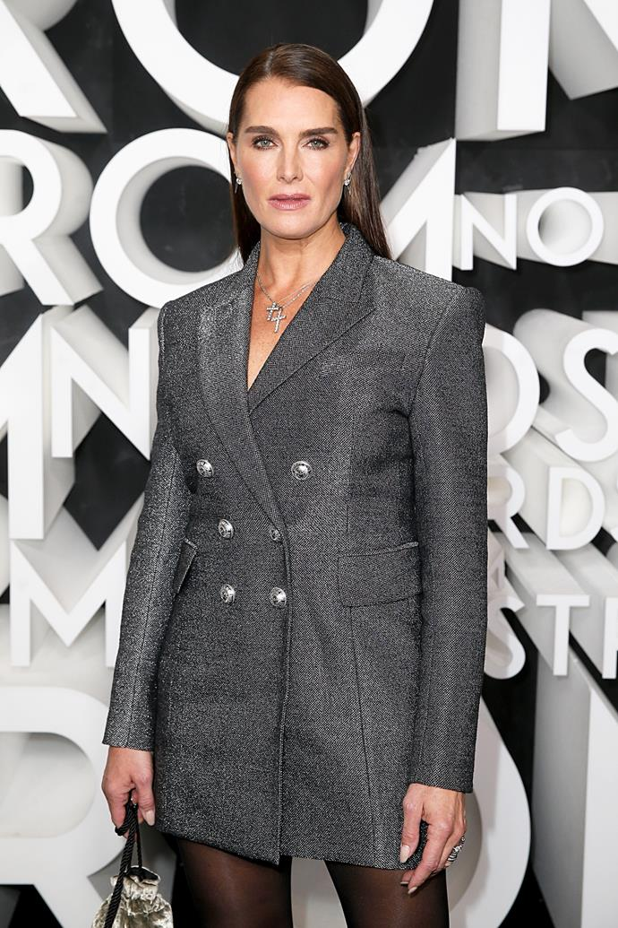 <strong>Brooke Shields</strong> <br> <br>  It looks as if Brooke Shields is next in line for America's most-royal celebrity, after Hilary Duff. The original queen of the bold brow is distant relatives with France's King Henry II, which makes her Queen Elizabeth's 18th cousin, once removed.  <br> <br>  Shields is also connected to Catherine de Medici and Lucrezia Borgia, the daughter of Pope Alexander VI.