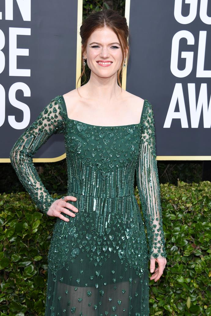 **Rose Leslie** <br><br> In vast contrast to Ygritte, her character on hit-series *Game Of Thrones*, Leslie is in fact royal by blood. And not through her marriage to co-star Kit Harington, either.  <br><br> Leslie's father is a chieftain of the Aberdeernshire clan Leslie, while her mother is a descendant of King Charles II.  <br><br> For an extra *GoT*-themed twist, it looks as if she and Harington are both descendants to King Charles II, making them *very* distant cousins.