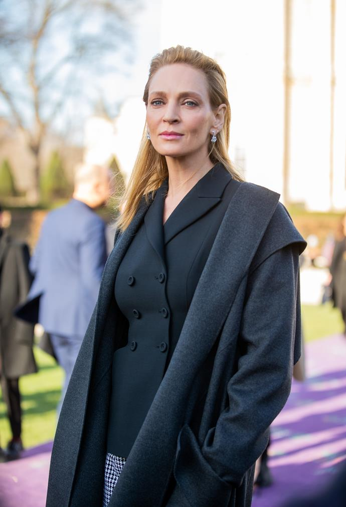 **Uma Thurman** <br><br> While she's definitely *Kill Bill* royalty in our eyes, Uma Thurman is also carries a royal blood line. Thurman is the 21st cousin, once removed, to Queen Elizabeth thanks to her ancestor, King Edward I of England. Could she get any cooler?