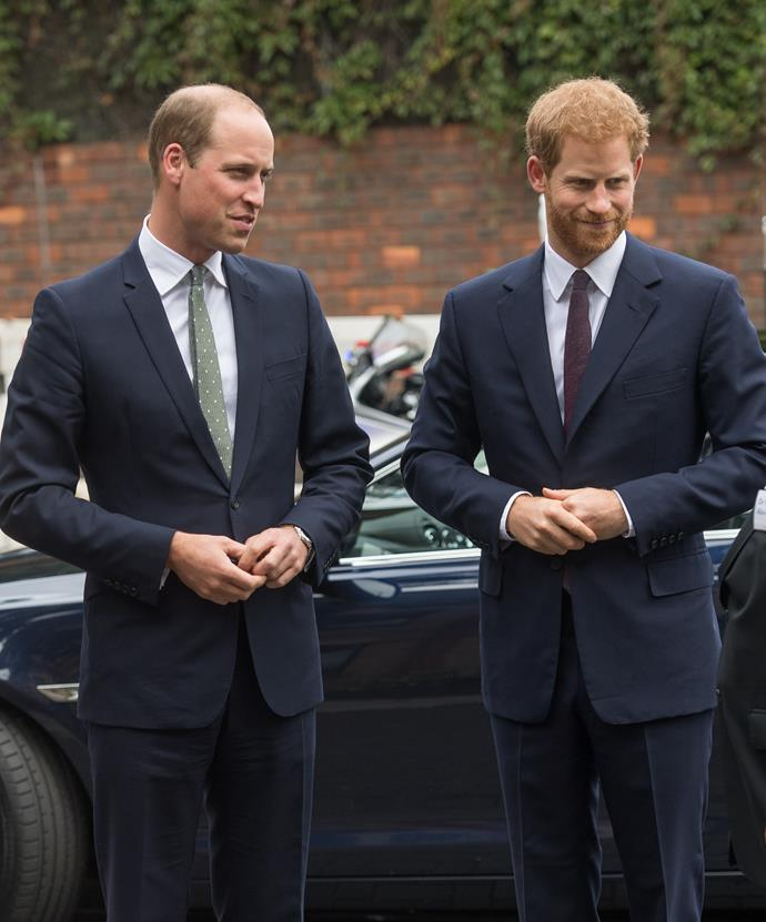 **Prince William and Prince Harry** <br><br> As Prince William and Prince Harry are famous for their royal family, their lineage goes even further back than we thought. Prince Philip, their grandfather, is connected to Russian royalty through his paternal grandmother, Olga Constantinovna of Russia, the granddaughter of Nicholas I.  <br><br> Which means that their grandfather is the great-great-grandson of Nicholas I, the Emporor of Russia from 1825 to 1855.  <br><br> And as if it couldn't get any better, Nicholas I was the son of Paul I, who was the son of Catherine the Great. Yes, *the* Catherine The Great that Elle Fanning is currently playing in her new series.