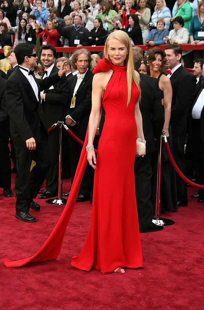 **Nicole Kidman in Balenciaga at the 2007 Academy Awards** <br><br> Easily one of the best-ever Oscars fashion moments, Nicole Kidman shut down the red carpet in this halterneck Balenciaga dress, with a long bow adornment on the back.
