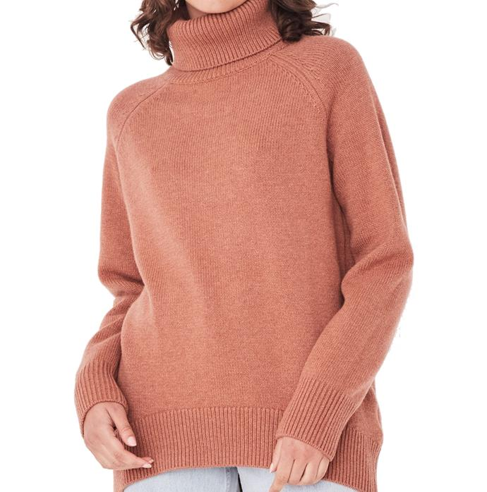 """**'Orla' knit in auburn (other colours available) by Assembly Label, $200 at [Assembly Label](https://fave.co/36uuguN