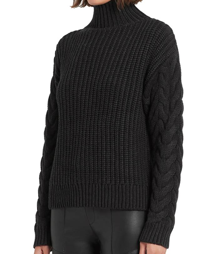 """**'Ava' high neck sweater by SIR THE LABEL. (also available in cream), $320 at [SIR THE LABEL.](https://fave.co/3ebrnBM