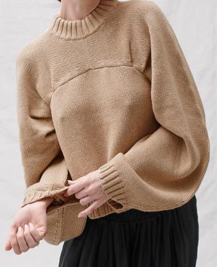 "**'Ursula' wool cotton knit by Joslin Studio, $359 at [Joslin Studio](https://fave.co/2XsWWQN|target=""_blank""|rel=""nofollow"")**<br><br>  *Shop [here](https://fave.co/2XsWWQN|target=""_blank""|rel=""nofollow"")*"
