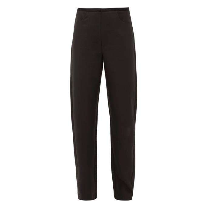"""**Black trousers**<br><br> Trousers by Totême, $238 at [MATCHESFASHION.COM](https://www.matchesfashion.com/au/products/1335106