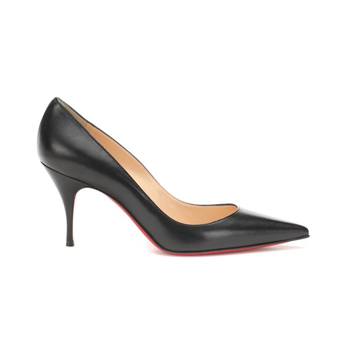 """**Classic pumps**<br><Br> Pumps by Christian Louboutin, $975 at [MyTheresa](https://www.mytheresa.com/en-au/christian-louboutin-clare-80-nappa-leather-pumps-1230967.html?catref=category