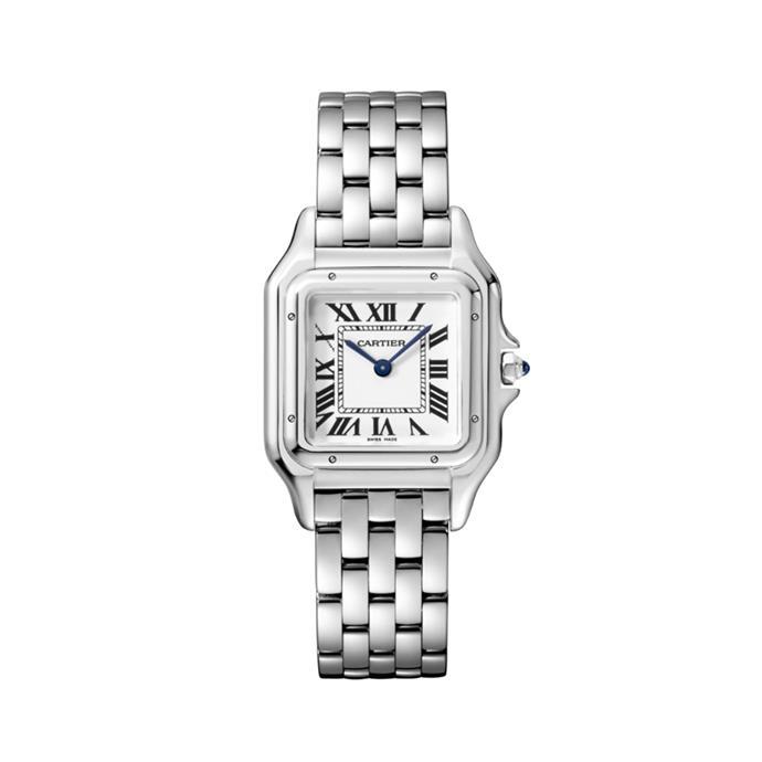 "**A watch**<br><br> Watch, $6,850 by [Cartier](https://www.cartier.com.au/en-au/collections/watches/women-s-watches/panth%C3%A8re-de-cartier/wspn0007-panth%C3%A8re-de-cartier-watch.html|target=""_blank""|rel=""nofollow"")."