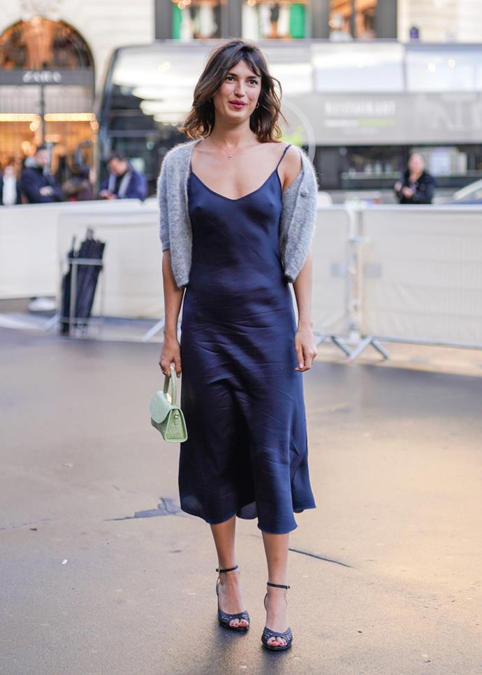 **Slip dress**<br><br> Kate Moss has always been onto something. There's nothing chicer than a beautiful silk slip dress. Whether knee-length or midi, a good slip can be worn all year round. Pair with a t-shirt and trench in the cooler months or with sandals in summer.