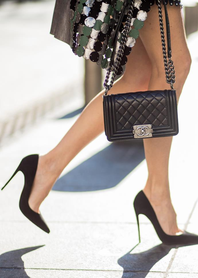 **Classic pumps**<br><Br> There's a reason you can look back at Audrey Hepburn wearing black pumps in the 1950s and still think they're chic. Although other shoe trends come and go, a classic pump will serve you for years. And although the look of those towering heels *is* tempting, the trick is to opt for a mid-heel that you find comfortable. You'll get more wear, trust us.