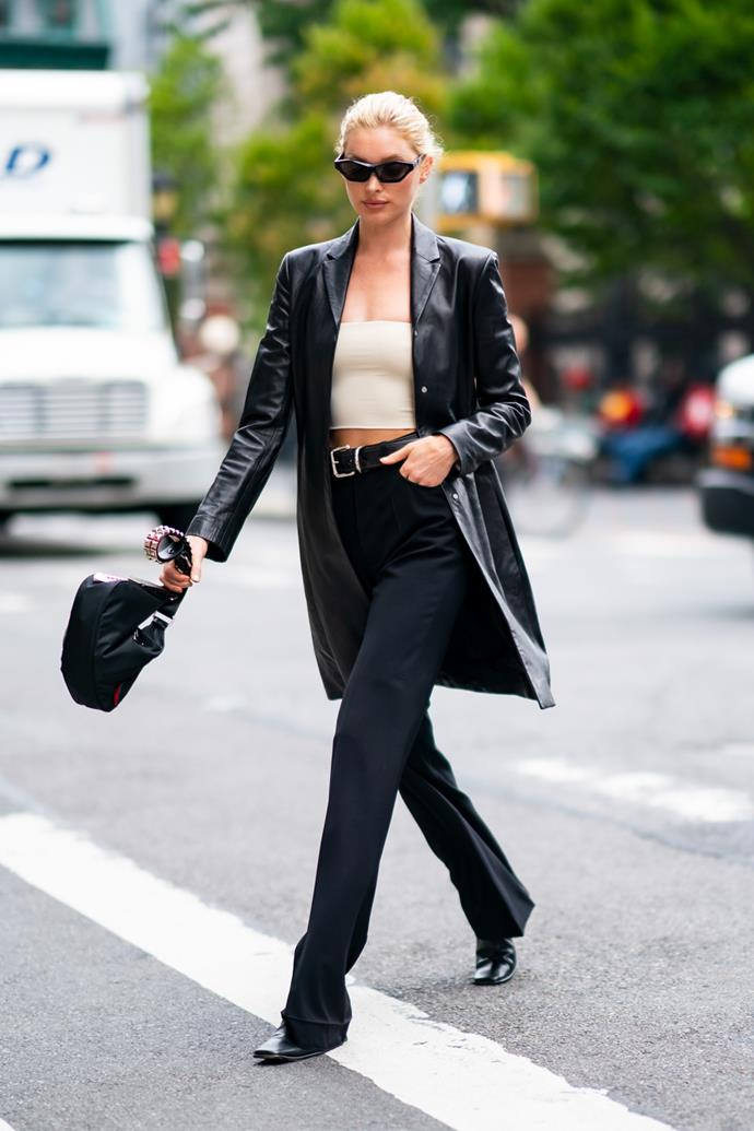 **Black trousers**<br><br> Wear them to business meetings, with graphic tees and under dresses in the winter, the perfect pair of black trousers will never let you down. Our tip? Once you get your hands on a pair, take them to the tailor to make sure they're inch-perfect. It'll be the best $50 you've ever spent.