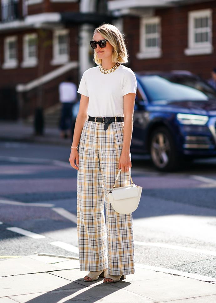 **A white t-shirt**<br><br> Under slips, with jeans, under blazers, dressing up activewear, dressing down dresses—the white tee is eternal. The tricky part? Everyone's idea of the 'perfect white tee' is different. For some, a boxier fit suits, while others opt for tighter cuts; sheerness for others is necessary, but for some a thick weave is best. Whatever you choose, when you find The One, buy it several times over.