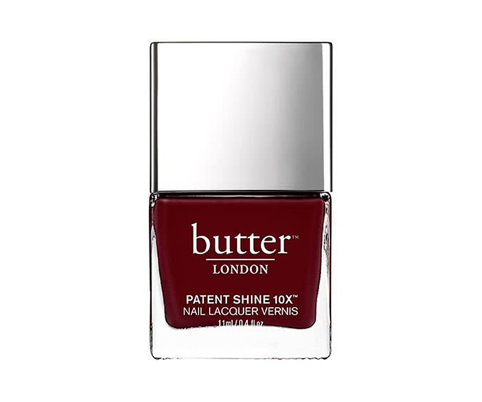 "**Patent Shine 10X Nail Polish in Afters by Butter London, $22 at [Adore Beauty](https://www.adorebeauty.com.au/butter-london/butter-london-patent-shine-10x-nail-polish-afters.html|target=""_blank""