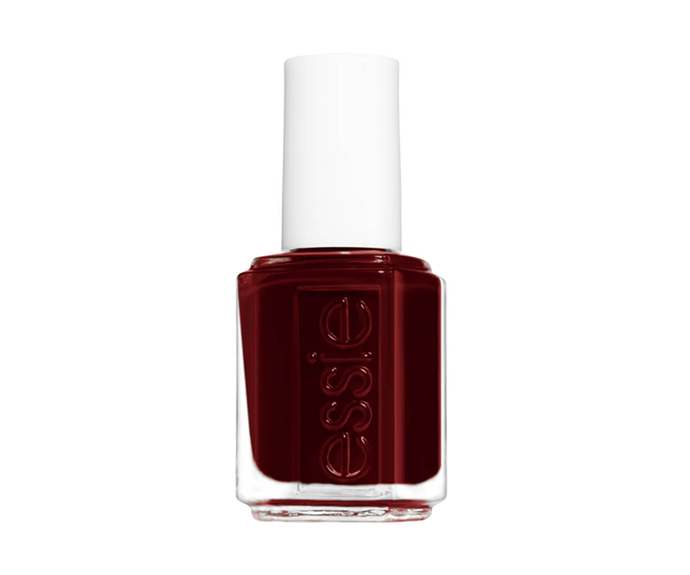 "**Nail Polish in Bordeaux by Essie, $14.95 at [MECCA](https://www.mecca.com.au/essie/nail-polish/V-041881.html|target=""_blank""