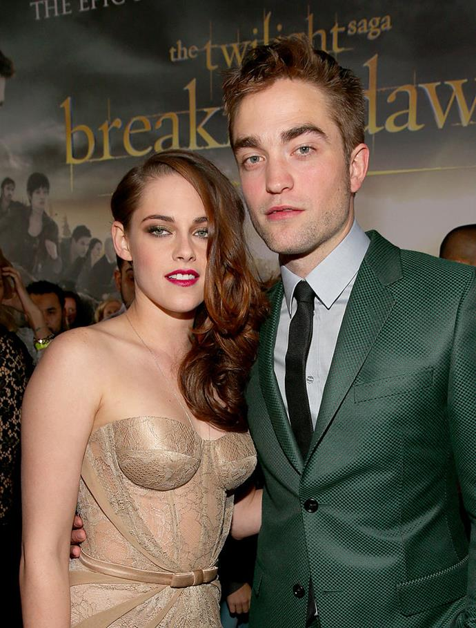 "**Kristen Stewart and Robert Pattinson**<br><br>  Former co-star couple Kirsten Stewart and Robert Pattinson's three-year relationship was rocked back in 2012 when photos showing Stewart kissing her *Snow White and the Huntsman* director Rupert Sanders began dominating the tabloids. The pair reportedly separated briefly, but came back together, only parting the following year.<br><br>  Despite what transpired, there appears to be [no bad blood](https://people.com/movies/kristen-stewart-opens-up-about-first-love-robert-pattinson-i-thought-that-was-it/|target=""_blank""