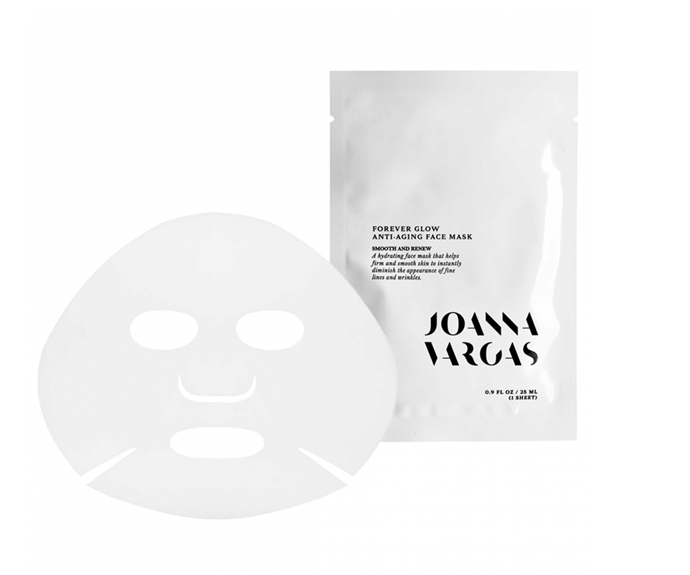 """**Forever Glow Anti-Aging Face Mask (5 pack) by Joanna Vargas, $119.78 at [NET-A-PORTER](https://www.net-a-porter.com/en-au/shop/product/joanna-vargas/forever-glow-anti-aging-face-mask-x-5/1056990