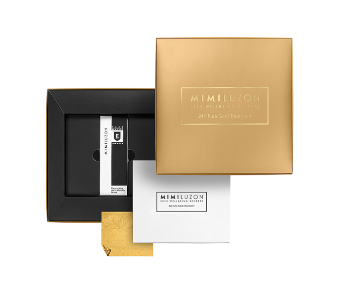 """**24K Pure Gold Treatment Mask (4 pack) by Mimi Luzon, $577.59 at [Revolve](https://www.revolveclothing.com.au/mimi-luzon-24k-pure-gold-treatment-mask-4/dp/MLUZ-WU1/