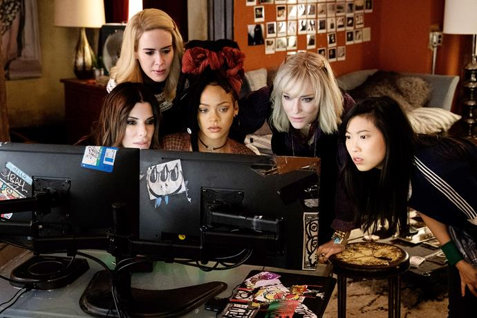 ***Ocean's 8*** **(27/6/2020)**<br><br>  Five years, eight months, 12 days and counting—that's how long Debbie Ocean has been devising the biggest heist of her life. She knows what it's going to take—a team of the best people in the field, starting with her partner-in-crime Lou Miller. Together, they recruit a crew of specialists, including jeweler Amita, street con Constance, suburban mom Tammy, hacker Nine Ball, and fashion designer Rose. Their target—a necklace that's worth more than $150 million.