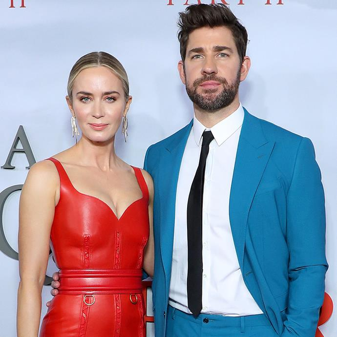 """**Emily Blunt and John Krasinski** <br><br> Aside from the endless entertainment, Blunt and Krasinski can also thank *The Devil Wears Prada* for their romance. The pair were introduced by Blunt's co-star in the iconic fashion film, Anne Hathaway and apparently, it was love at first sight. <br><br> """"It was one of those things where I wasn't really looking for a relationship and I was thinking I'm going to take my time in L.A. Then I met her and I was so nervous. I was like, Oh god, I think I'm going to fall in love with her. As I shook her hand I went, 'I like you.'"""" <br><br> The lovebirds have been married since 2010 and have two daughters together, Hazel and Violet."""