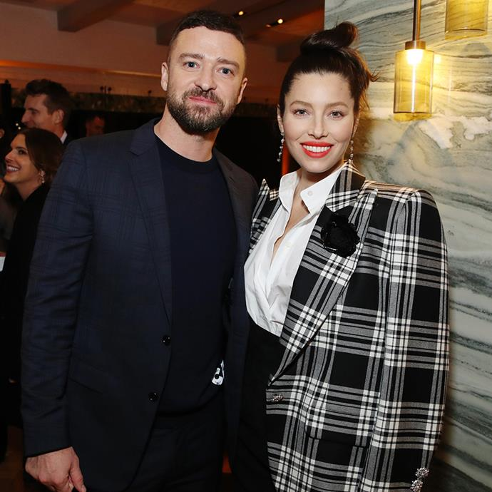 """**Justin Timberlake and Jessica Biel** <br><br> Justin Timberlake and Jessica Biel can thank a mutual friend for their meet cute. The year was 2007, Biel had just split with Chris Evans and Timberlake had just split with Cameron Diaz, and neither were looking for anything serious.  <br><br> """"There was nothing starry about the way we got together,"""" shared Timberlake. """"It was very un-Hollywood-esque, in fact. We met and got talking. Afterwards I asked my friend if I could call her and ask her out. My friend called Jessica and Jessica said yes, and so I called her. I did it the old fashioned way—by telephone."""" <br><br> The lovebirds were married by 2012 and welcome their son, Silas Randall Timberlake, in 2015."""