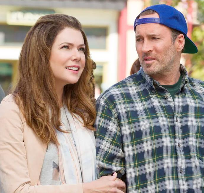 **Lorelai Gimore and Luke Danes in *Gilmore Girls*** <br><br> It's safe to say that any fan of *Girlmore Girls* hoped that these two would confess their love for one another, for almost five seasons. When they finally did, their hilarious back-and-forth kept us loving the couple up until their wedding in *Gilmore Girls: A Year In The Life*.