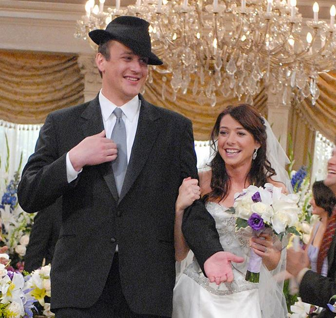 """**Lily and Marshall in *How I Met Your Mother*** <br><br> They're hilarious, fun and come up with great phrases like """"lawyered"""". Still crazy in love and playful as anything, Lily and Marshall have the kind of best-friend-like relationship we could ever dream of."""