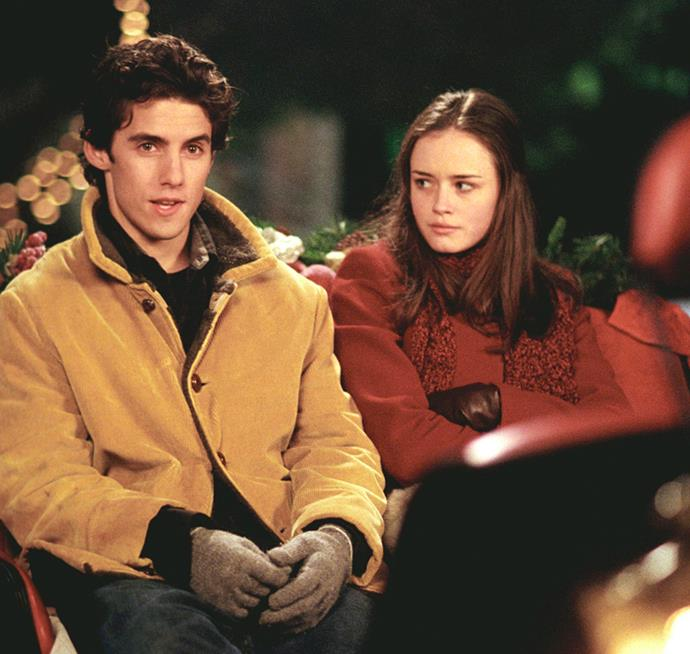 **Jess Mariano and Rory Gilmore in *Gilmore Girls*** <br><br> While the verdict is out on whether Jess, Dean or Logan was the perfect guy for Rory, it seems that most are in favour of fellow writer, Jess. Although he often led Rory to more rebellious tendencies, he ultimately put his mischievous demeanour aside to be with her.