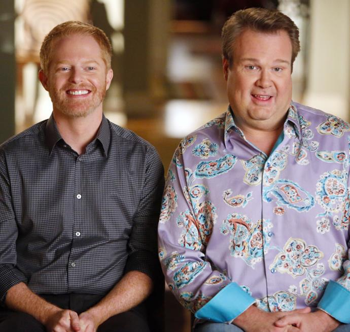 **Cameron and Mitchell in *Modern Family*** <br><br> *Modern Family* certainly nailed the idea of a non-traditional family unit. With Cam and Mitchell's relationship easily winning over our hearts, the two lovebirds and their journey to start their own modern family, is sure to go down in history.
