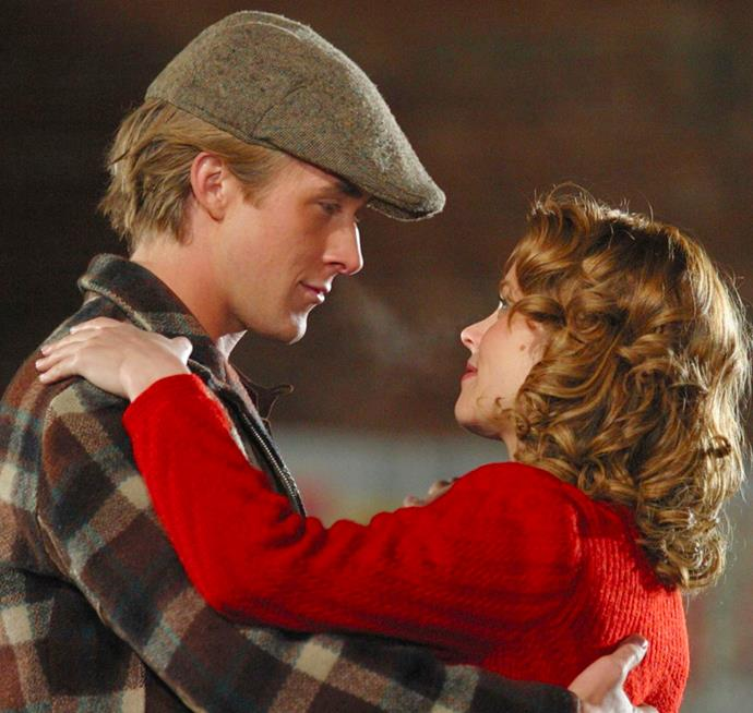**Noah Calhoun and Allie Hamilton in *The Notebook*** <br><br> Aside from the fact Noah is Ryan Gosling, who couldn't love watching how crazy these two were for each other. If you need further convincg, Allie even leaves the equally good-looking James Marsden for him. Case closed.