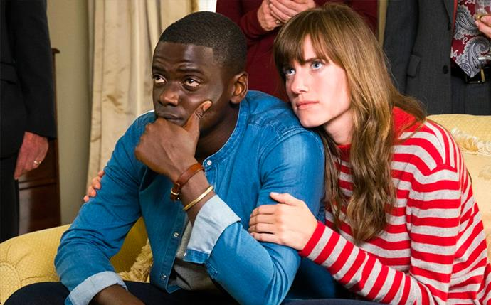 "***Get Out*** <br><br> Based in the current-day racial climate, *Get Out* follows Chris, an African American man who uncovers a disturbing secret when he accompanies his white girlfriend on a visit home to meet her parents. While not short on humour, the film clevely highlights the idea of 'woke' racism still present in America. <br><br> Available to rent or buy on *[Google Play](https://play.google.com/store/movies/details?id=i-NLdBxZtK0|target=""_blank""
