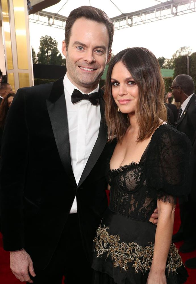 **Bill Hader and Rachel Bilson** <br><br> Rumours between the *Saturday Night Live* alum and *The O.C.* star began in December 2019 after an outing to Starbucks in Tulsa, Oklahoma (a.k.a Hader's hometown). The next month, the pair made their red carpet debut when they attended the Golden Globes together, surprising us all. With pair originally meeting as love interests in the 2013 film *The To Do List*, the couple choose to still remain quite tight-lipped when it comes to their relationship.