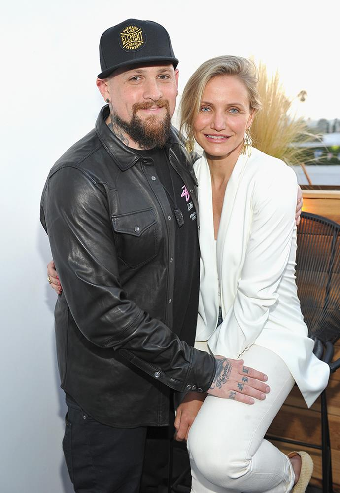 **Benji Madden and Cameron Diaz** <br><br> A tattooed rocker and a blonde movie star might seem like an unexpected match, but by all accounts Benji Madden and Cameron Diaz are madly in love. They met in 2014, got engaged after seven months together and married in a ceremony at Diaz's home in 2015. Save for the occasional social media tribute, they stay out of the public eye.