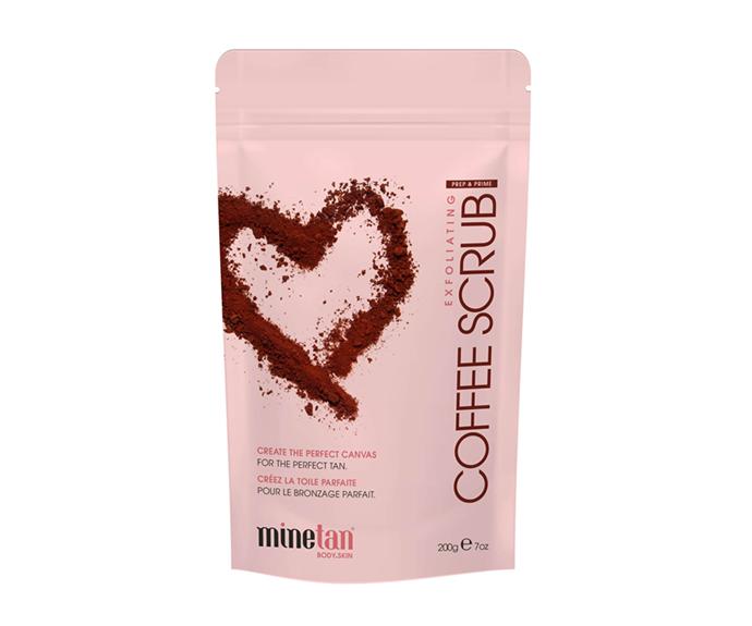 "**Exfoliating Coffee Scrub, $19.78 by [MineTan](https://www.beautyexpert.com/minetan-coffee-scrub-200g/12519609.html|target=""_blank""|rel=""nofollow"")**<br></br> Freshly ground coffee, sweet almond oil and macadamia oil make for the ideal skin-smoothing trio."