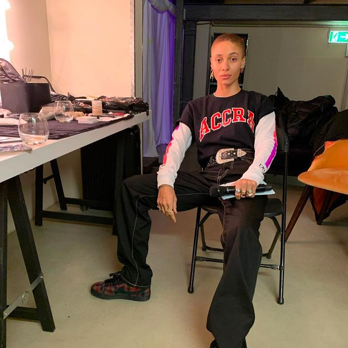 """**Adwoa Aboah** <br> [@adwoaaboah](https://www.instagram.com/adwoaaboah/