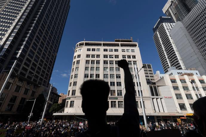 Black Lives Matter protests in Sydney.