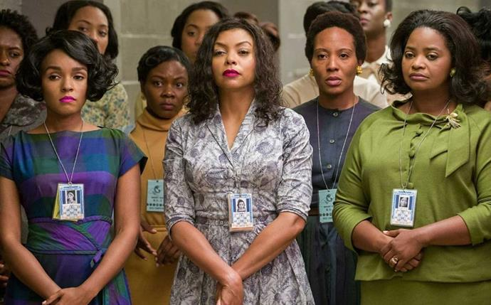 "***Hidden Figures*** <br><br> Loosely based on the 2016 novel by Margot Lee, *Hidden Figures* follows the lives of three female African-American mathematicians, who play a pivotal role in astronaut John Glenn's launch into orbit. However, their knowledge and efforts, while working at NASA, are constantly overlooked as they must deal with both racial and gender discrimination. <br><br> Available to rent or buy on *[Google Play](https://play.google.com/store/movies/details?id=o590IXDDdB4|target=""_blank""