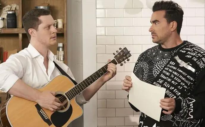 **Patrick and David — *Schitt's Creek*** <br><br> In one of the most recent examples of queer representation on television, *Schitt's Creek*'s Patrick and David were one of the most heartwarming elements to the comedy series. These lovebirds not only compliment each other so well, they are one of the more realistic depictions of true love, inclduing everything from singing to each other to David supporting Patrick when he finally came out to his parents.