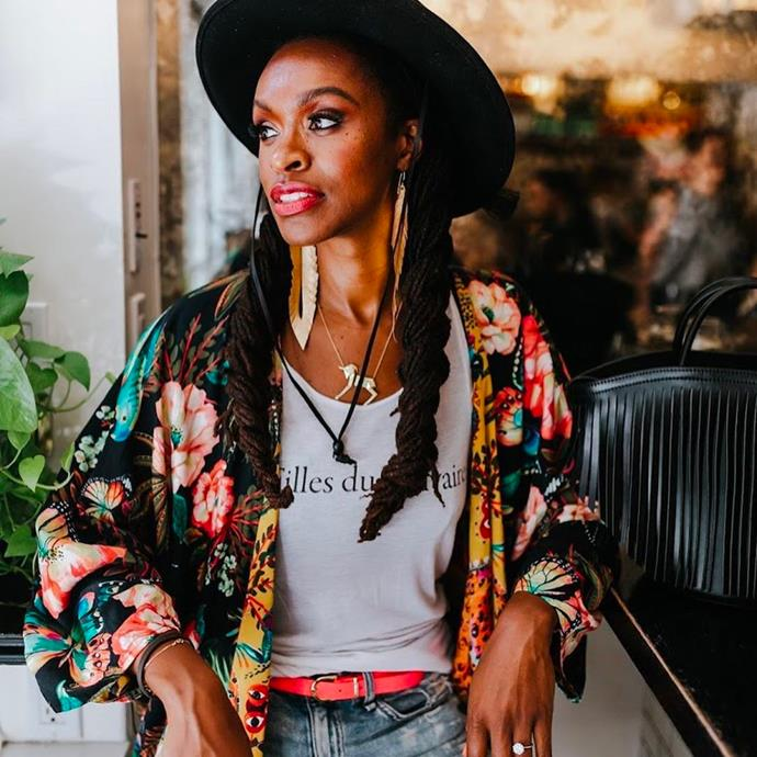 """**Latham Thomas** <br> [@glowmaven](https://www.instagram.com/glowmaven/