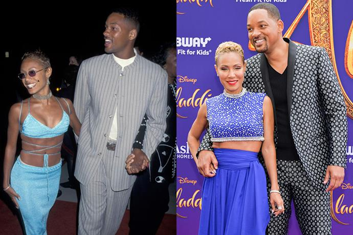 **Will Smith and Jada Pinkett** <br> **Together For:** 25 years <br><br> Smith first spotted Pinkett in 1994, after she auditioned to be his on-screen love interest on *The Fresh Prince Of Bel-Air*. While she didn't end up getting the part, Smith and Pinkett began dating. The couple were married in 1997, and now have two children together, Jaden and Willow.