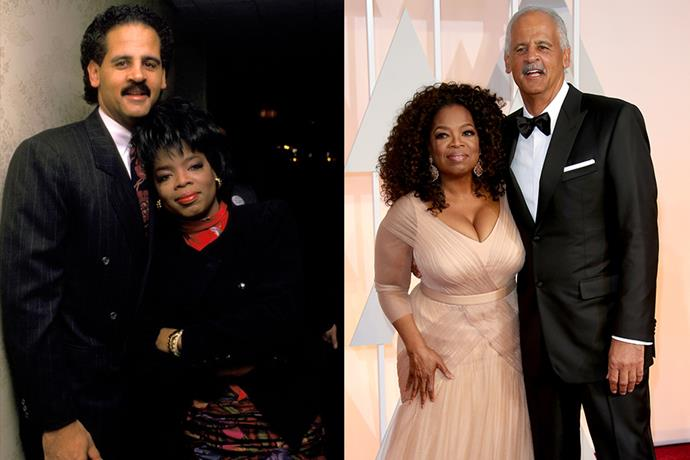 "**Oprah Winfrey and Stedman Graham** <br> **Together For:** 34 years <br><br> While talk-show host and philanthropist Oprah Winfrey, typically keeps her personal life fairly private, her relationship with businessman Stedman Graham is iconic. Together since 1986, the couple met at a charity event. Speaking to *[People Magazine](https://people.com/archive/cover-story-her-man-stedman-vol-38-no-21/|target=""_blank""