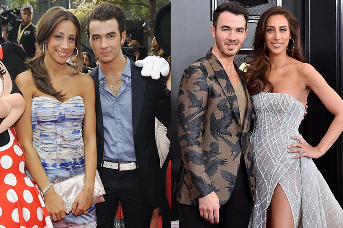 **Kevin Jonas and Danielle Deleasa** <br> **Together For:** 13 years <br><br> The eldest brother of the sibling boy-band Jonas Brothers, Kevin Jonas met hairdresser Danielle Deleasa while both of their families were on vacation in the Bahamas in 2007. They were married on December 19, 2009. <br><br> The couple now have two daughters Alena and Valentina, and Danielle is regularly spotted backstage and in videos with her 'Jonas sisters', Priyanka Chopra and Sophie Turner.