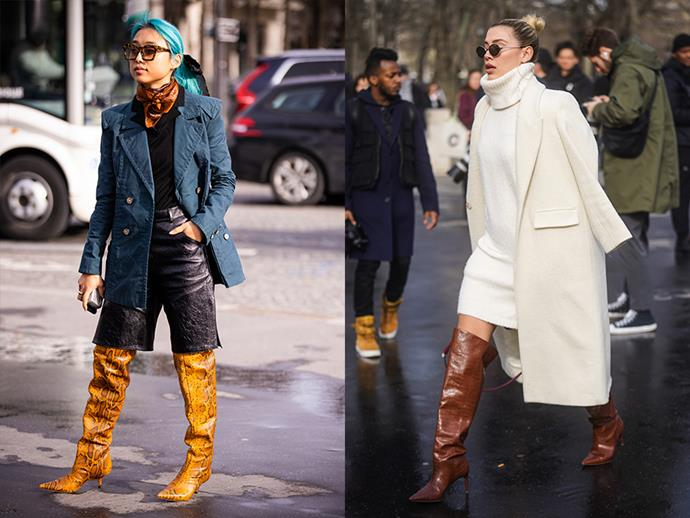 **The Slouchy Boot** <br><br> This '80s-inspired trend has been a runway staple for the last two years, as seen in Celine and Isabel Marant, to name a few, and it seems as if the style is here to stay. Pairing perfectly with winter staples and party pieces, the slouchy boot can give any mid-length dress or trouser a completely different look, becoming the perfect day-to-night boot.