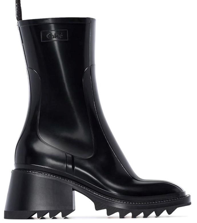 "**'Betty PVC Ankle Boots' by Chloé, $720 at [My Theresa](https://www.mytheresa.com/en-au/chloe-betty-pvc-ankle-boots-1310979.html?gclid=CjwKCAiAzJLzBRAZEiwAmZb0anwD3iX28RKAgBtaj2nBJTw44dDRPRctyUMNns4oCg_A5u2b6L5mgxoC4ucQAvD_BwE&utm_source=sea_pla&utm_medium=google&utm_campaign=google_sea&ef_id=CjwKCAiAzJLzBRAZEiwAmZb0anwD3iX28RKAgBtaj2nBJTw44dDRPRctyUMNns4oCg_A5u2b6L5mgxoC4ucQAvD_BwE:G:s?pr=lptest2|target=""_blank""|rel=""nofollow"").**"