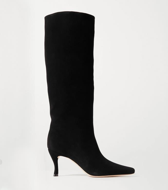 "**'Stevie Suede Knee Boots' by BY FAR, $782.33 at [NET-A-PORTER](https://www.net-a-porter.com/en-au/shop/product/by-far/stevie-suede-knee-boots/1212359|target=""_blank""