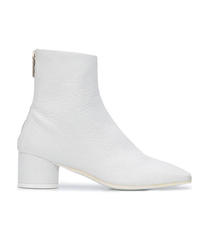 "**'6-Heel Ankle Boots' by MM6 Maison Margiela, $1327 at [Farfetch](https://www.farfetch.com/au/shopping/women/mm6-maison-margiela-6-heel-ankle-boots-item-15275773.aspx?storeid=9006|target=""_blank""|rel=""nofollow"")**"