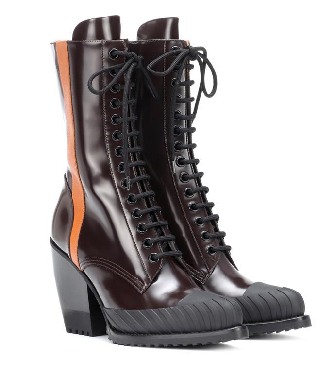 "**'Rylee Medium leather Ankle Boots' by Chloé, $1129 at [MyTheresa](https://www.mytheresa.com/en-au/chloe-rylee-medium-leather-ankle-boots-1064545.html?gclid=Cj0KCQjwuJz3BRDTARIsAMg-HxW8v73ZdYuusoziE-i6SgVSeZlG5t_DV5bYVdWEyK-pMWcV_QMogTgaArnEEALw_wcB&utm_source=sea_pla&utm_medium=google&utm_campaign=google_sea&ef_id=Cj0KCQjwuJz3BRDTARIsAMg-HxW8v73ZdYuusoziE-i6SgVSeZlG5t_DV5bYVdWEyK-pMWcV_QMogTgaArnEEALw_wcB:G:s?pr=lptest2|target=""_blank""|rel=""nofollow"")**"