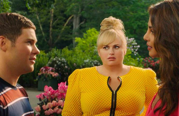 ***Isn't It Romantic***: Natalie (Rebel Wilson) is a New York architect, who is knocked unconscious after being mugged on the subway, and suddenly wakes up to find herself in an alternate universe. A cynic when it comes to love, her worst nightmare soon comes true after she discovers that she's playing the leading lady in a real-life romantic comedy, starring the oh-so handsome Liam Hemsworth.